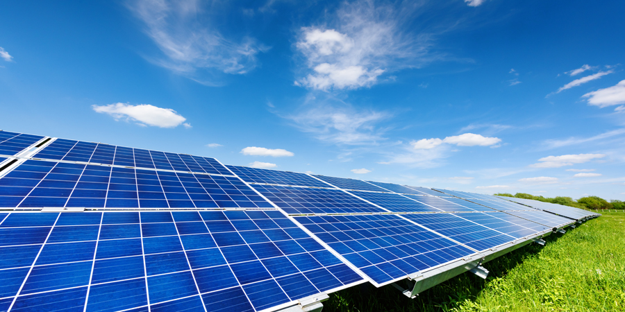 How do solar panels convert sunlight into electricity